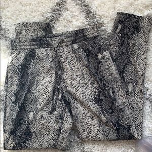 Lightly worn snakeskin pants